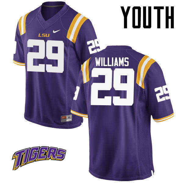 Youth #29 Andraez Williams LSU Tigers College Football Jerseys-Purple